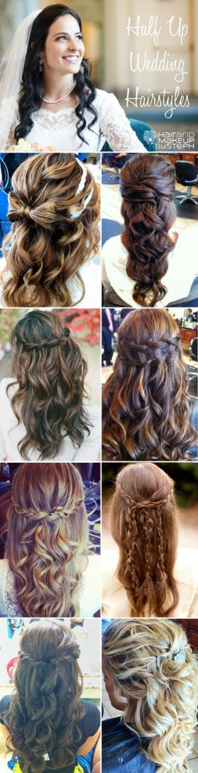 Wedding Wednesday: Half Up Half Down Hairstyles