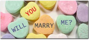 Marriage proposals on Valentine's Day.