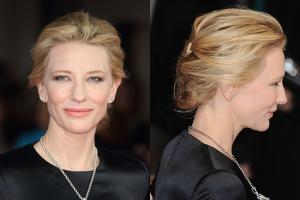 Cate Blanchett hidden bun hairstyle