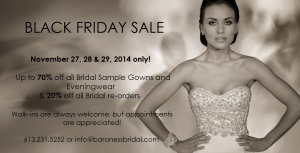 Black Friday wedding dress sales