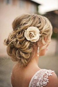 This is a fantastic updo that provides elegance. The perfect curls and waves provide a whimsical look and it appears not a hair is out of place.