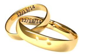 Wedding Wednesday: 12-13-14 a popular weddingdate