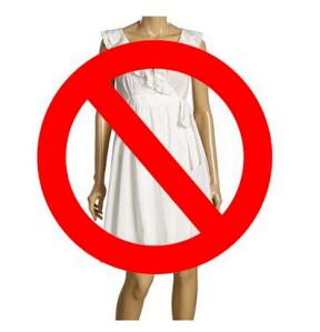 Don't wear white