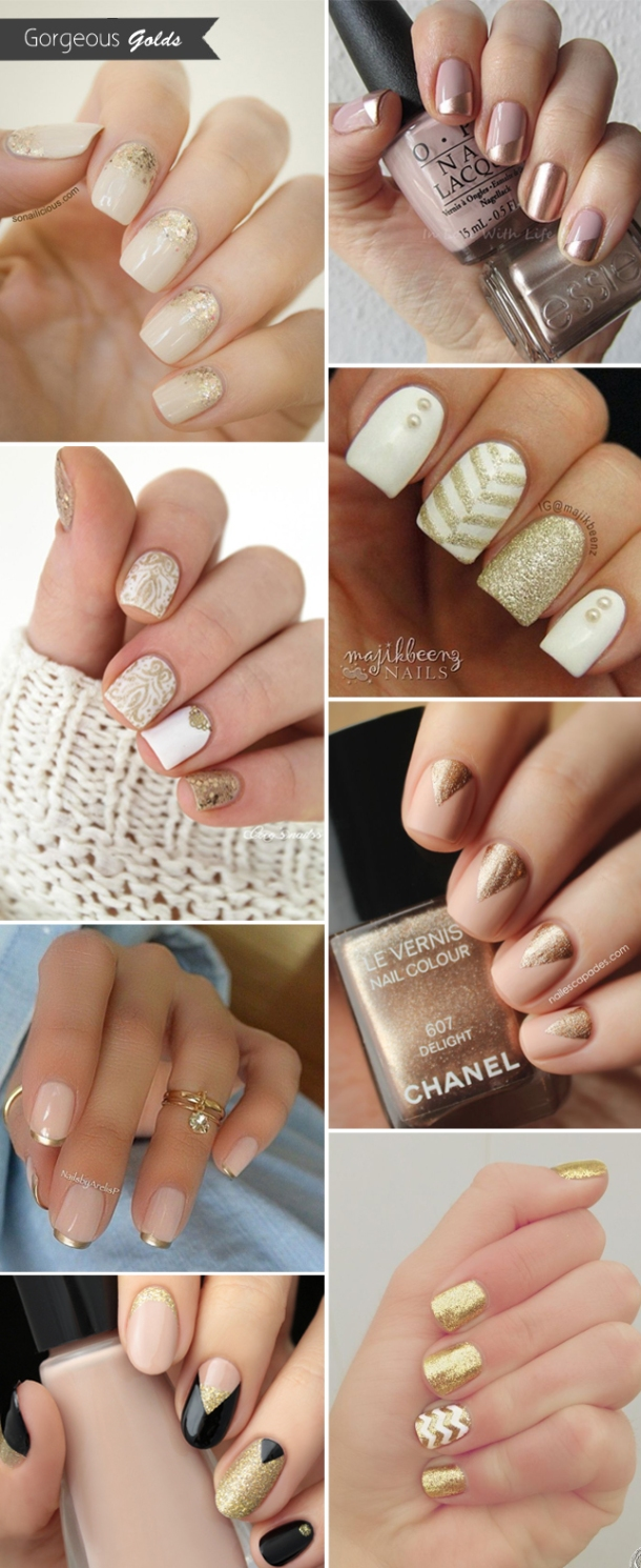 gorgeous-gold-wedding-nails