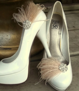 Feather shoes