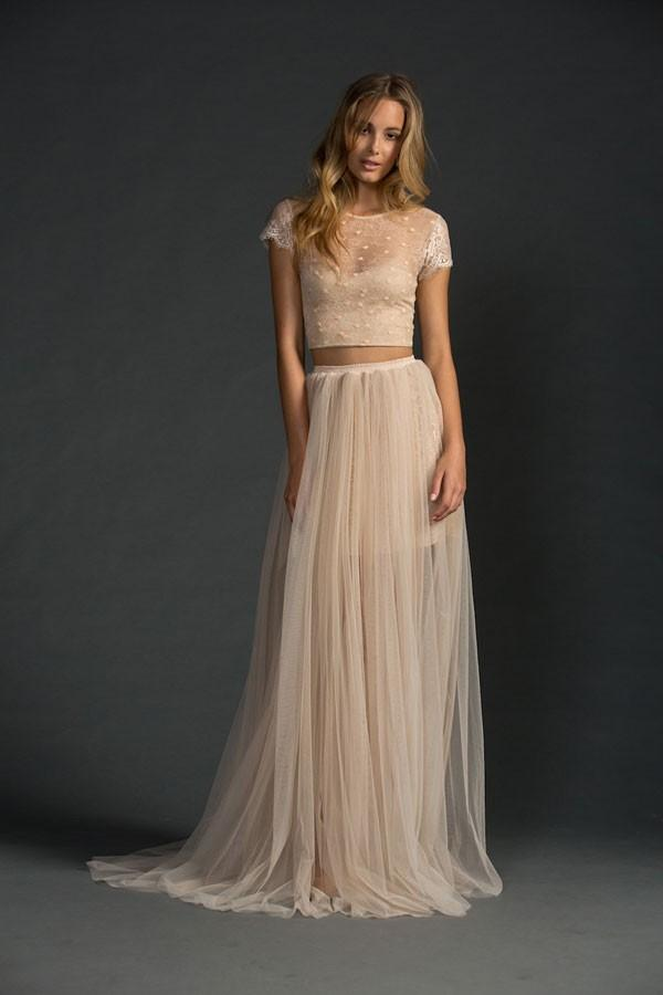 Wedding #Wednesday: Bohemian Inspired Crop-Top Wedding Gowns ...