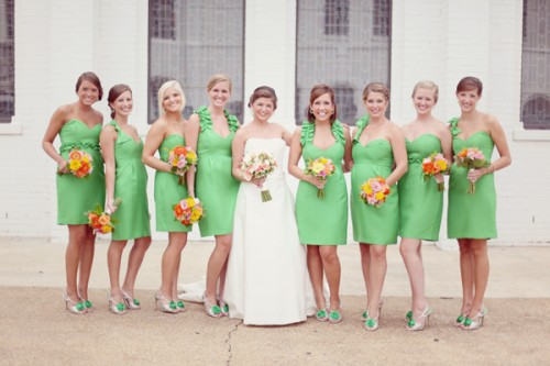 green-spring-bridesmaid-dresses