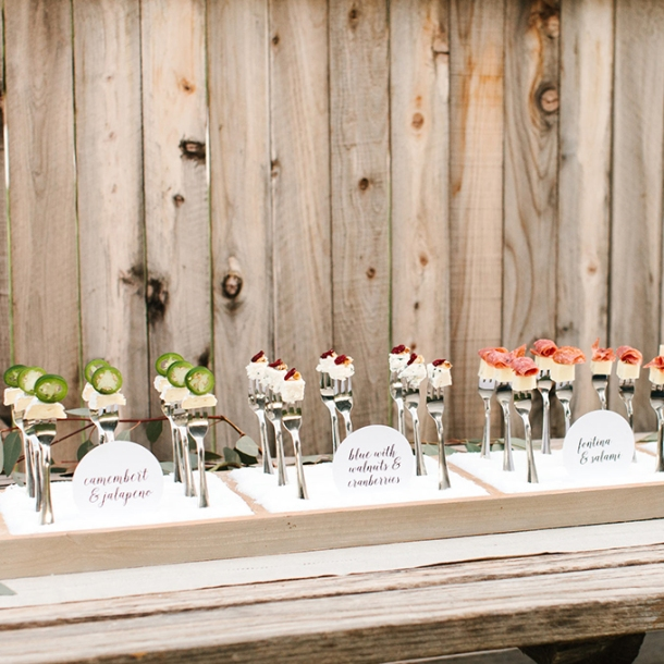 Food Bar Ideas For Weddings: Wedding Wednesday: Creative Bar Food Ideas